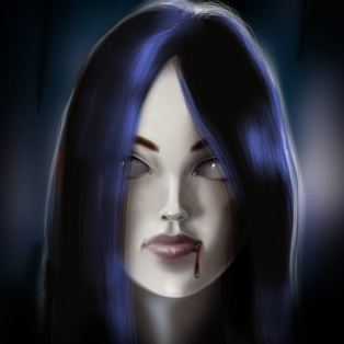 just for fun digital painting i made on my wacom tablet